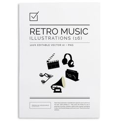 Retro music icons $4.00