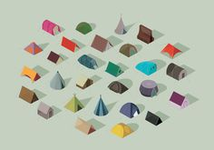 Tents, by Adam Simpson #graphic design #design #illustration #creative #inspiration #tents