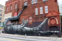 209 Mitchell Street SW Atlanta, by Belgian artist Roa in 2011.