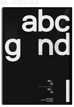 NBL_abcgandl_1framed_black_ed #type #poster