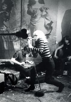 Debbie Harry at CBGB #blackwhite #dennie #harry #debbie #music
