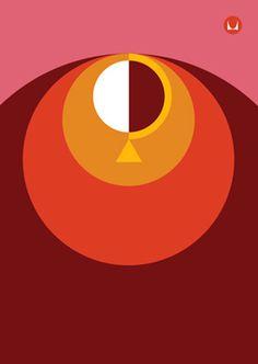 Herman Miller Shift Conference illustration, Moniker #illustration #color #shape #abstract #hermanmiller #moniker