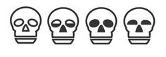 THIS N THAT GRAPHICS #skull #blackwhite #four