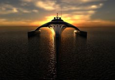 Super yacht on sundown #super #adastra #yacht #modern