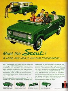 1960s Advertising - Magazine Ad - Scout (USA) | Flickr - Photo Sharing! #truck #60s #automobile #retro #advertising #vintage #car