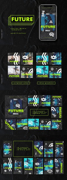 Future Social Media Template Bundle
