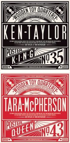 Timbas Type & Logo Dept. #ken #taylor #gigposters #tara #posters #macpherson #concerts