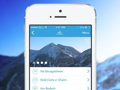 Scottish Hillwalking App Preview #mountain #climbing #ios7 #iphone #app #hillwalking