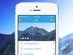 Scottish Hillwalking App Preview #mountain #climbing #ios7 #iphone #app #hillwalking