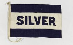 House flag, Silver Line Ltd - National Maritime Museum #silver