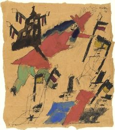 MoMA | The Collection | Lyonel Feininger. Euphoric Victory (Siegesrausch). (1918) #illustration #drawing #art