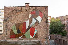 wooden mural