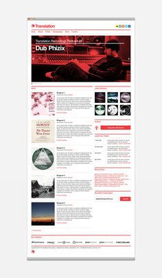 Translation Recordings on the Behance Network #grid #web