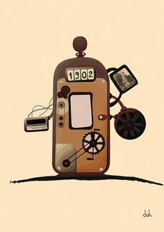 Time Machine #illustration #machine #time