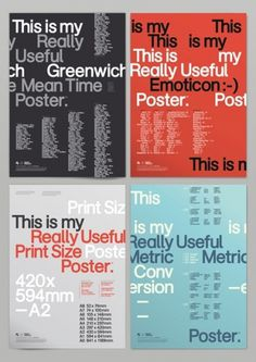 Really Useful Posters | AisleOne #print #design #graphic #minimal #poster