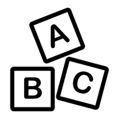 See more icon inspiration related to child, abc, block, letter, cube, alphabet, blocks, education, cubes, abc block, kid and baby and educational on Flaticon.