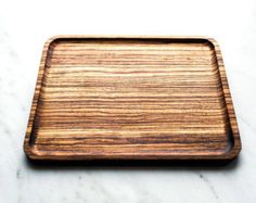 Zebrawood Catchall Valet Tray #wood #catchall #valettray