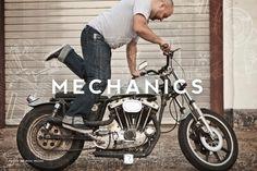 Mechanics : Ruttloff-Garments // Johann Ruttloff #rutloff #identity #motorcycle #typography