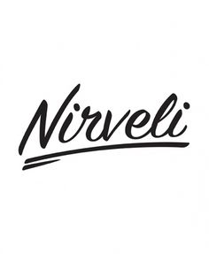 Nirveli | Ryan Stever #type #water #cursive