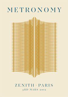 Metronomy in Paris print by James Kirkup