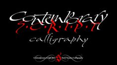 Contemporary Script Calligraphy