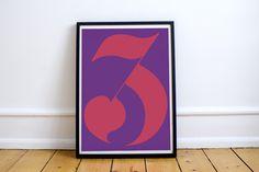"""Three"", 2015, Hand lettering, 100*70 cm"