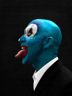clown face by PEROU #portraits #celebrity #photography