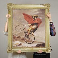 Superreally #paintings #fixie #ride #napoleon #vive #vlos #on #illustration #bike #poster #le