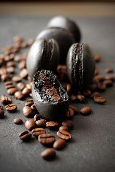 Zoom Photo #coffee #macaron #black