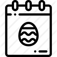 See more icon inspiration related to easter day, time and date, cultures, christianity, celebration, christian, easter and calendar on Flaticon.