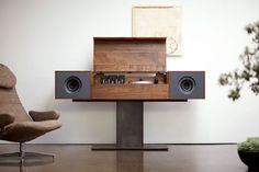 Symbol Record Console #design #wood #industrial #symbol #audio
