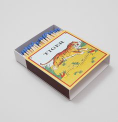 match box #packaging #box #matches #tiger #match