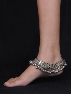Gypsy Silver Anklet,anklet,anklet designs,gypsy anklet,Gypsy Silver Anklets,latest anklet designs,latest payal designs,payal,payal design,Rajasthani Payal,silver anklet,silver payal design