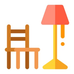 See more icon inspiration related to chair, livingroom, armchair, furniture and household, comfortable, seat, lamp, illumination and light on Flaticon.