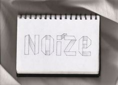 typography sketched #type #drawing #illustration #tpography #notebook #pencil #sketch