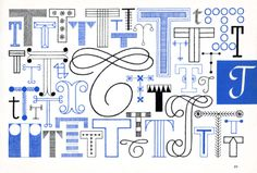 T, Embroidery Letterforms, Present and Correct