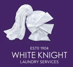 White Knight Logo #logo #fabric #photo #clean