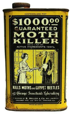Guaranteed Moth Killer #packaging #moth #retro #vintage #killer