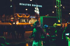 Michigan Avenue Runing Event #chicago #cityscape #canond #night #simon #alexander #vintage #street #fashion #60d #green