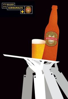 24+-+Serramalte-01.jpg (image) #advertisment #beer #print #illustration