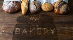 Mega Brand Bakery branding by David Brier #branding #packaging #design #food #brand #identity #logo #gourmet #typography