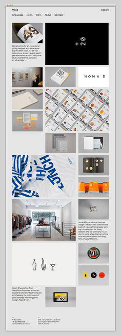 MAUD #website #layout #design #web