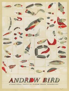 Landland — Andrew Bird #silkscreen #bird #landland #poster #andrew