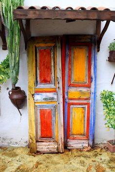 Rustic Southwestern Door #doors #rustic #southwestern #colorful
