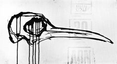 Turkey Skull #ink #white #design #black #illustration #art #and #skull