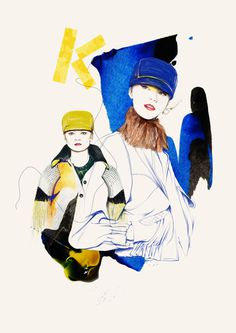 'OVEREXPOSED' Illustrations 2012 on Behance #fashion #illustration