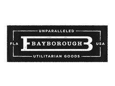 Bayborough #logo #typography