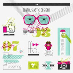 Illustration System for FF Diseño #illustration #print #stickers #typography #vector #glasses #like #logo #design #color #design