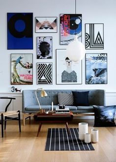 living room and art