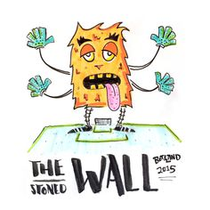 the wall monster #monster # wall